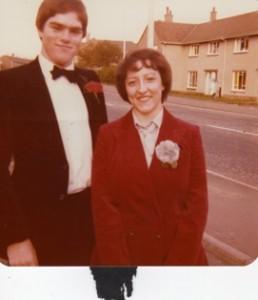 Colin Vance & Muriel Gray at Vance wedding 1980