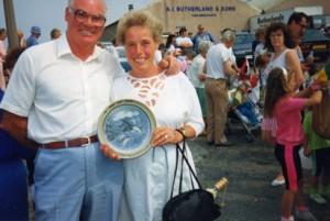 Iris & Jack Vance with RNLI plate