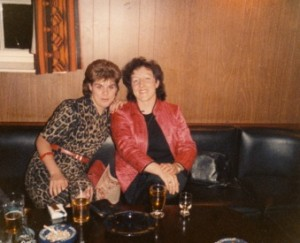 me and Muriel - very 80s!